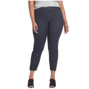 Eileen Fisher plus jeans skinny raw edge 18W ankle